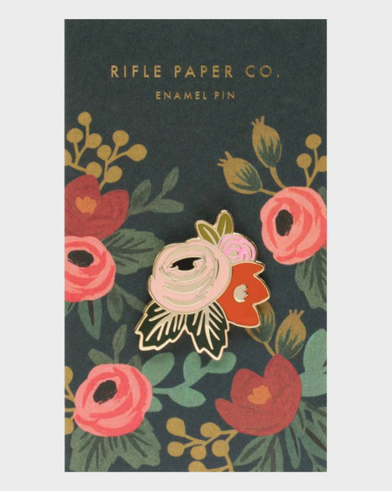 Rifle Paper co Rosa Enamel Pin Ruusu Emali Pinssi