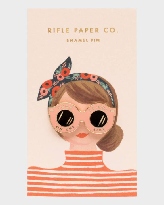 Rifle Paper co Sunglasses Enamel Pin Aurinkolasit Emali Pinssi
