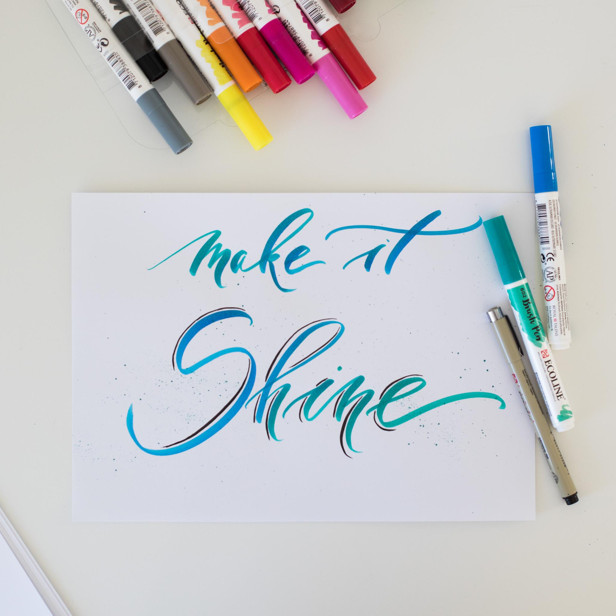 Brush calligraphy workshop beginner thu papershop