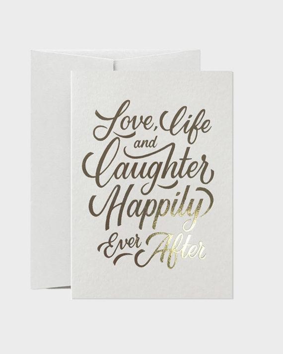 Live, Love and Laughter Wedding Card Hääkortti