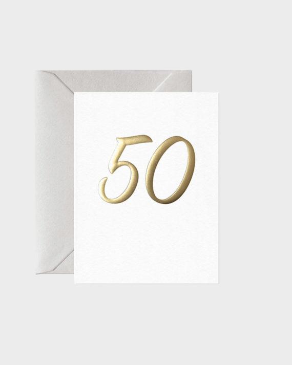 Card Nest Mini Birthday Card Foil Number Syntymäpäiväkortti