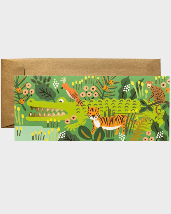 Rifle Paper co Alligator Birthday Card Large Suuri Onnittelukort