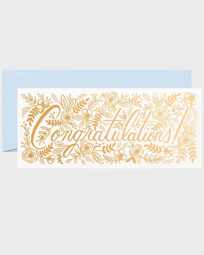 Rifle Paper Greeting Card Congratulations Onnittelukortti