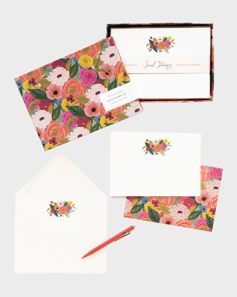 Rifle Paper co Juliet Rose Stationery set Letter paper Envelopes