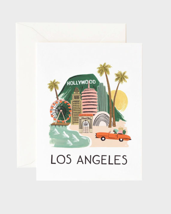 Rifle Paper co Los Angeles Greeting Card Onnittelukortti