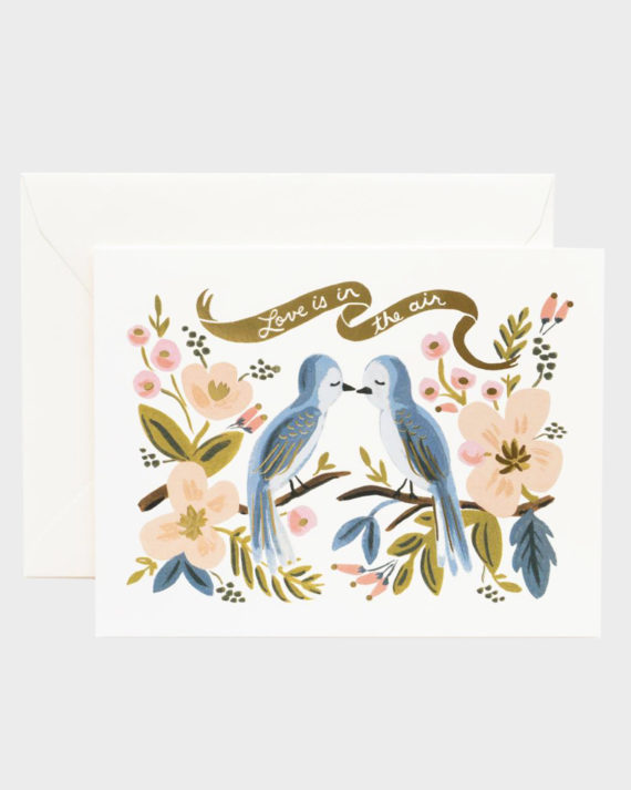 Rifle Paper co Love is in the air Greeting Card Onnittelukortti