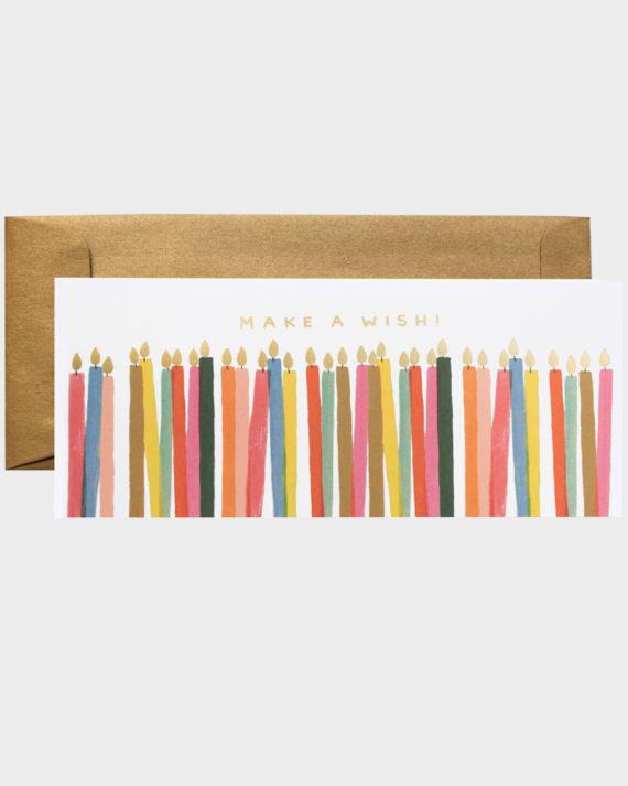 Rifle Paper co Make a Wish Birthday Card Onnittelukortti