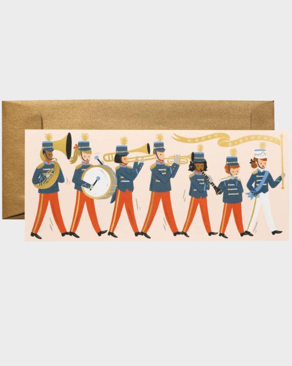 Rifle Paper co Marching Band Birthday Syntymäpäiväkortti