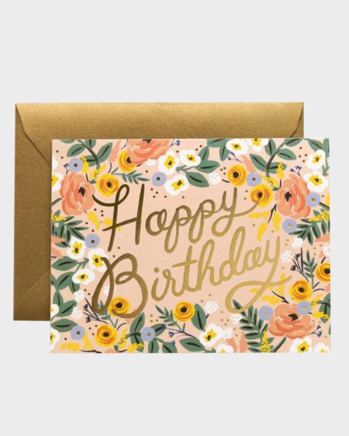 Rifle Paper co Rosé Birthday Card Synttärikortti