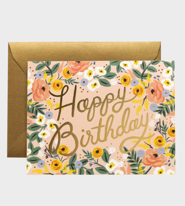 Rifle Paper co Rosé Birthday Card Synttärikortti