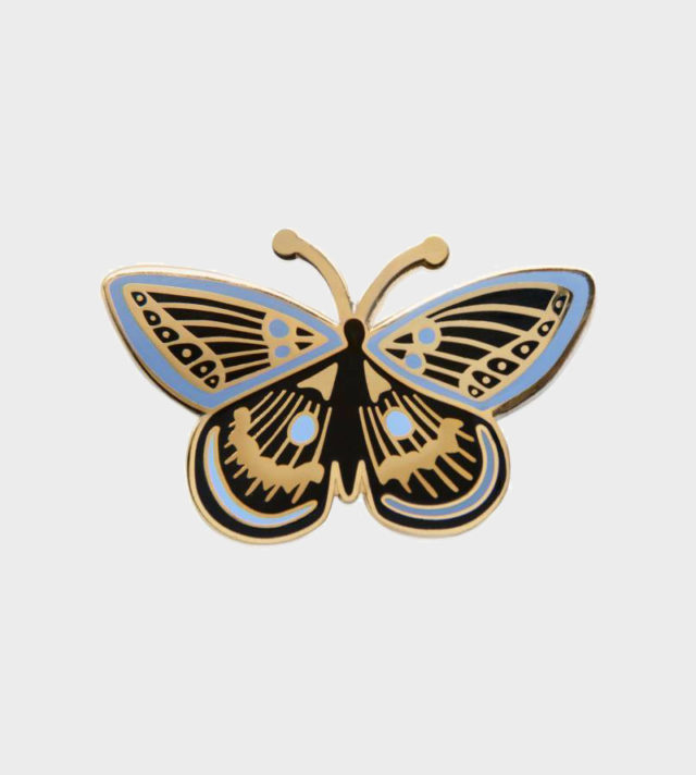 Rifle Paper co Butterfly Enamel Pin Perhonen Emali Pinssi