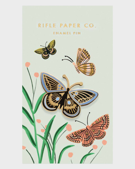 Rifle Paper co Butterfly Enamel Pin Perhonen Emali Pinssi