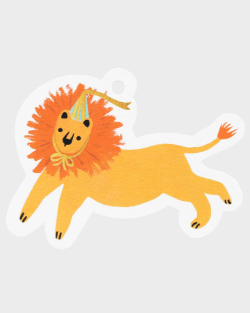 Rifle Paper co Party Lion Gift Tag Pakettokortti