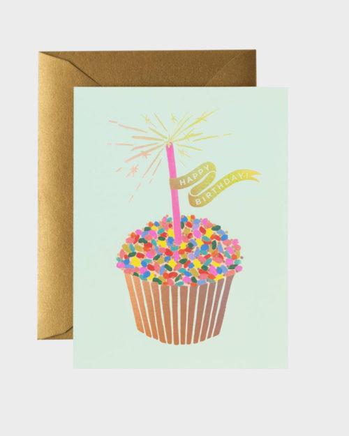 Rifle Paper co Cupcake Birthday Card Synttärikortti