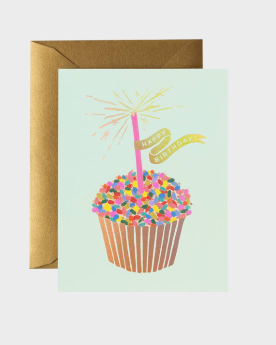 Rifle Paper co Cupcake Birthday Card Synttärikortti