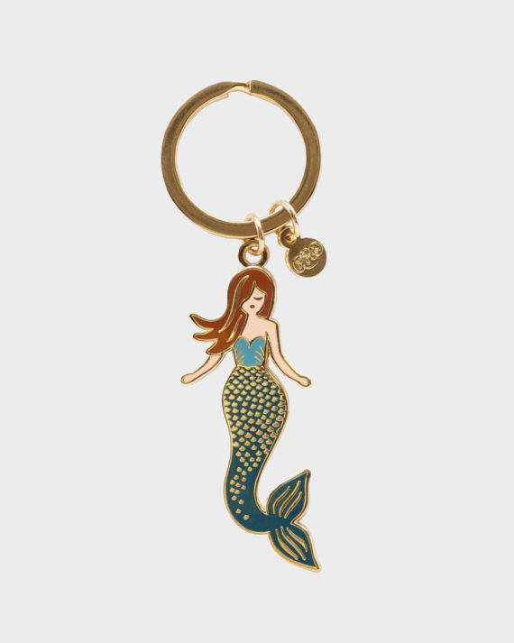 Rifle Paper co Mermaid Keychain Merenneito Avaimenperä
