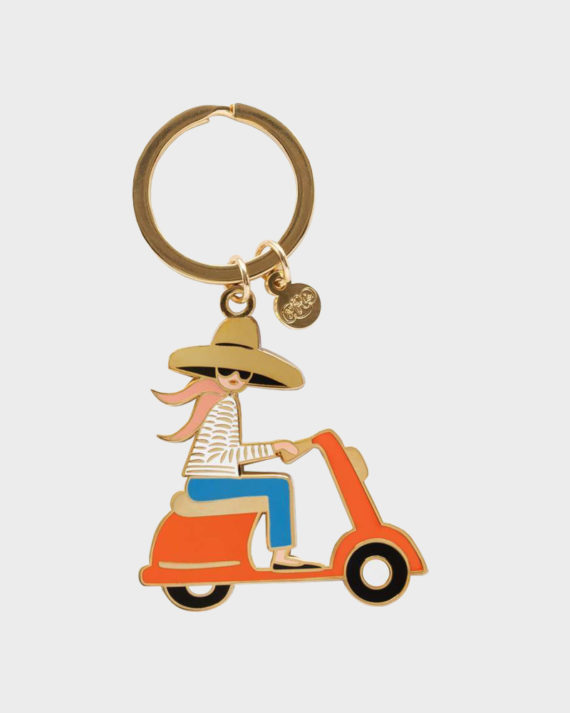 Rifle Paper co Scooter Girl Keychain Avaimenperä