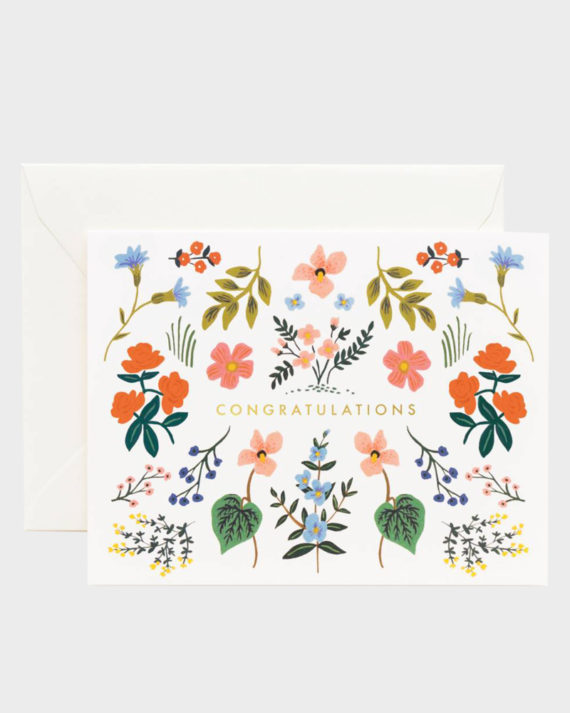 Rifle Paper co Wildwood Congrats Card Onnittelukortti