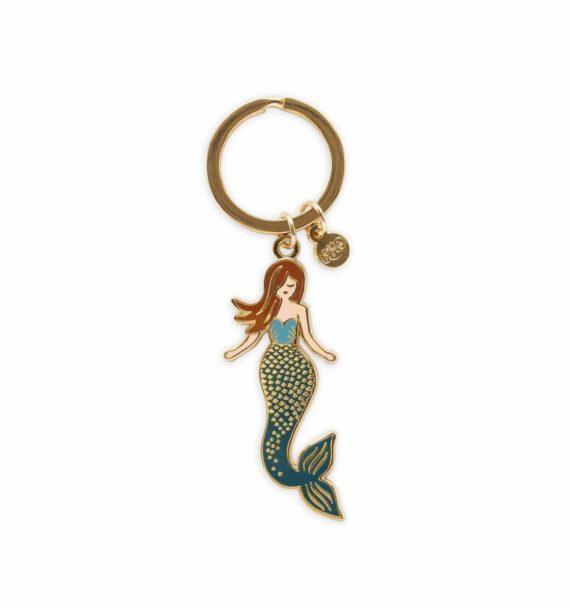 Mermaid Emalinen Avaimenperä