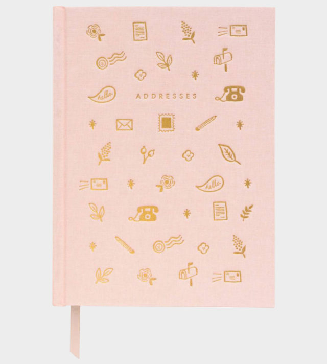 Rifle Paper co Blush Address Book Osoitekirja
