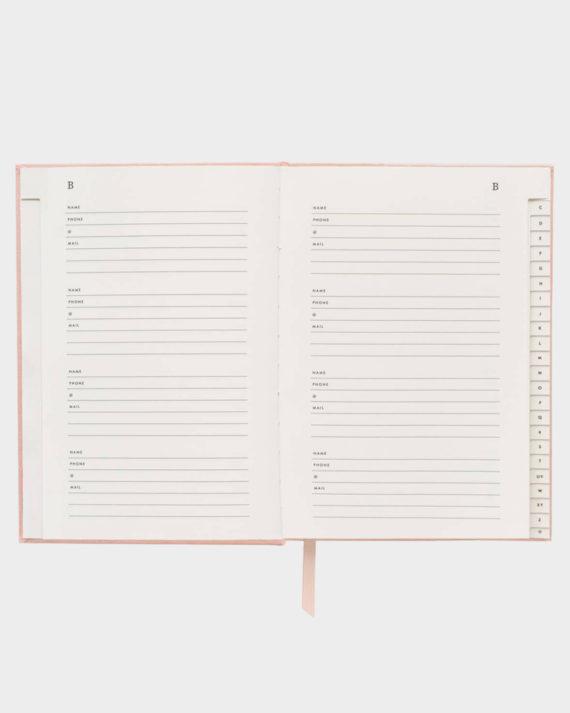 Rifle Paper co Blush Address Book Osoitekirja