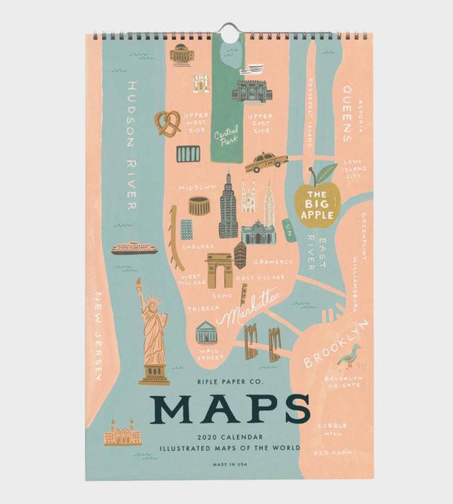 City Maps wall calendar seinäkalenteri 2020