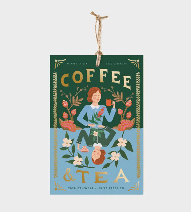 Papershop Helsinki / Rifle Paper co Coffee and Tea wall calendar