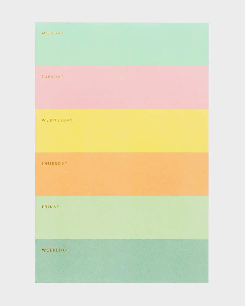 Rifle Paper co Color Block Memo Pad Muistilehtiö
