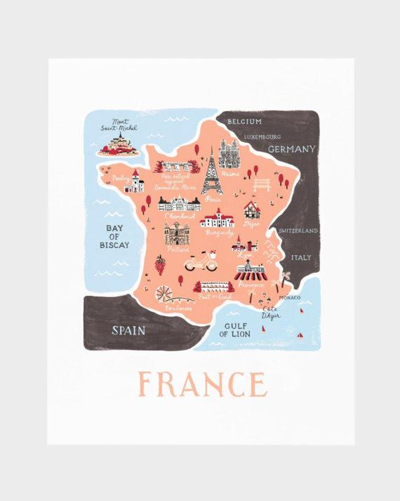 Rifle Paper co France poster art print juliste