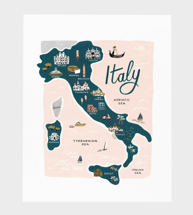 Rifle Paper co Italy poster art print juliste