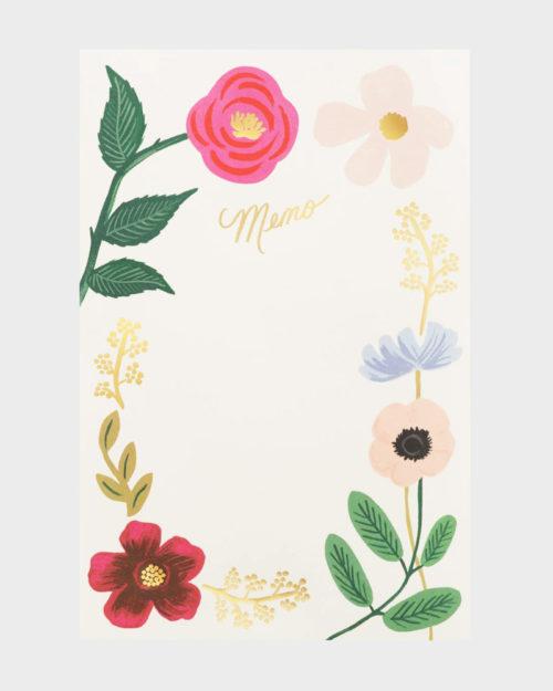 Rifle Paper co Wildflowers Memo Pad Muistilehtiö