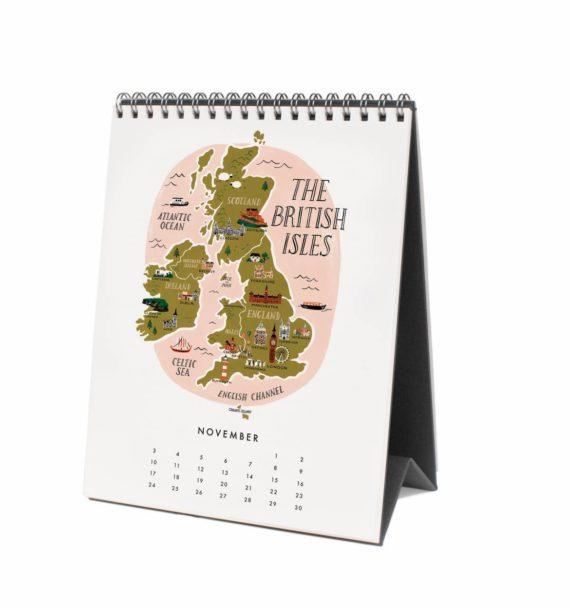 Maps of the World Pöytäkalenteri 2019