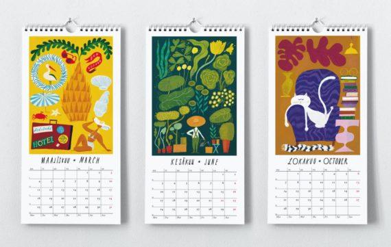 Kehvola Haaveilua Seinäkalenteri 2019