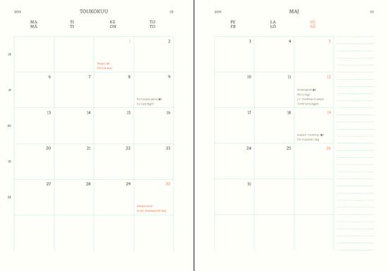 Polka Kovakantinen Viikkokalenteri 2019