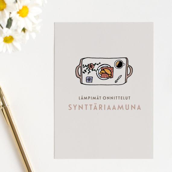 Synttäriaamu Syntymäpäiväkortti