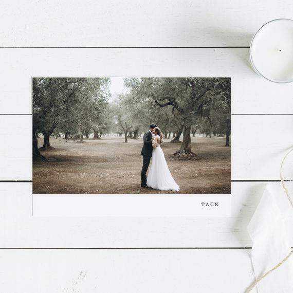 Papershop Polaroid Minimalist Thank You Card Kiitoskortti omalla kuvalla
