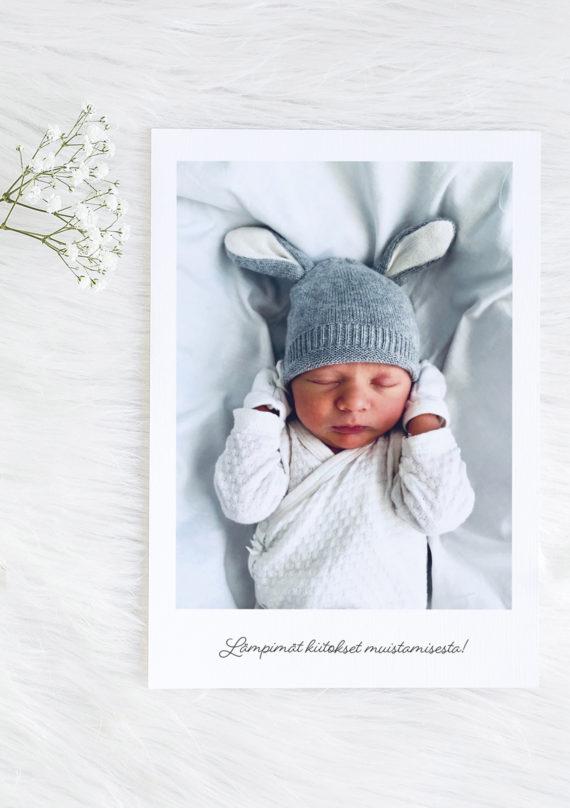 Papershop painostudio Vauva kiitoskortti