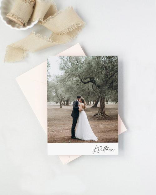 Polaroid Minimalist Kiitoskortti