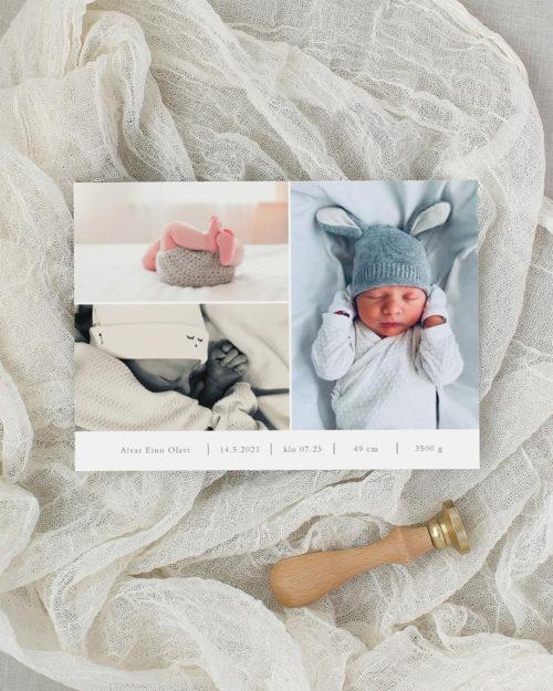Baby Collage kuvakollaasi vauvakortti