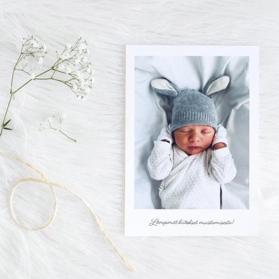 Papershop Baby Polaroid Thank You Card Kiitoskortti omalla kuval