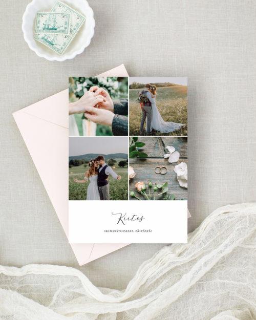 collage kiitoskortti