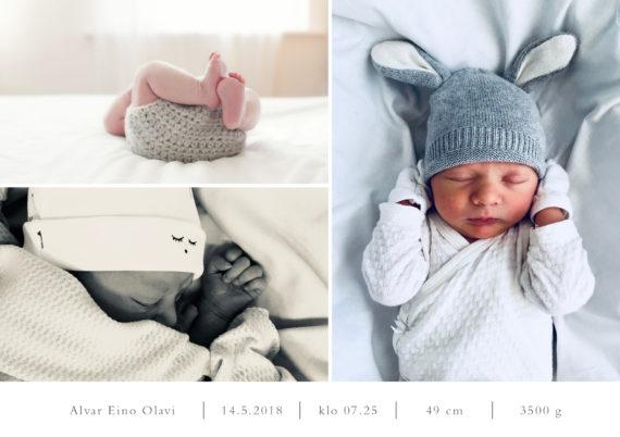 Baby Collage Kiitoskortti