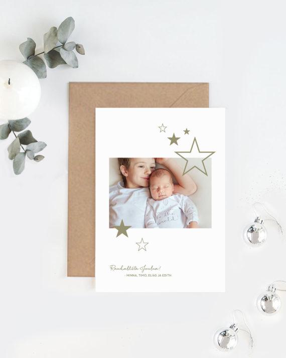 Joulukortti omasta valokuvasta