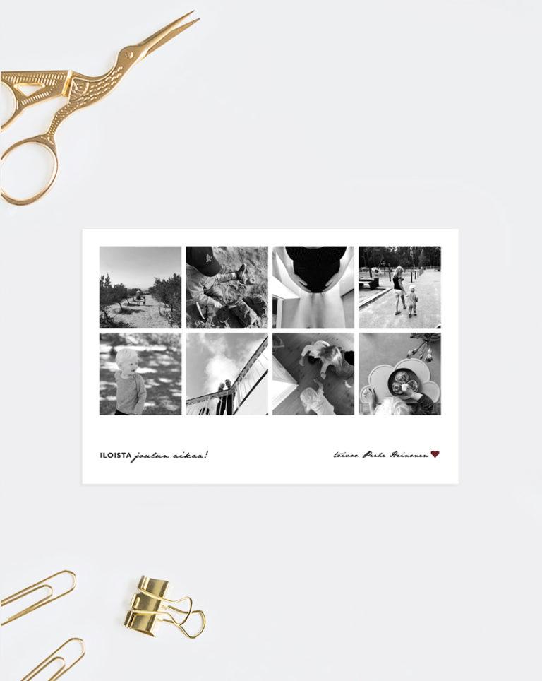 joulukortti omilla valokuvilla