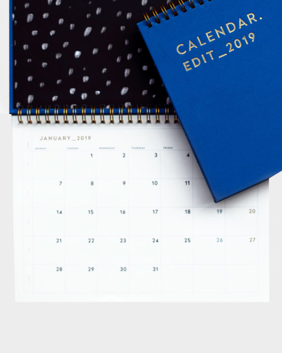 Darling Clementine table calendar 2019 pöytäkalenteri