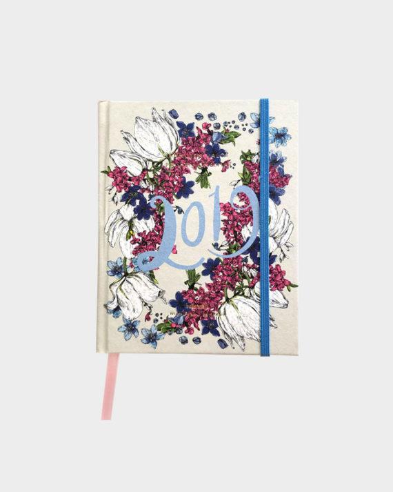 Nuppu Print Company Kevätlaulu vaaleanharmaa kalenteri