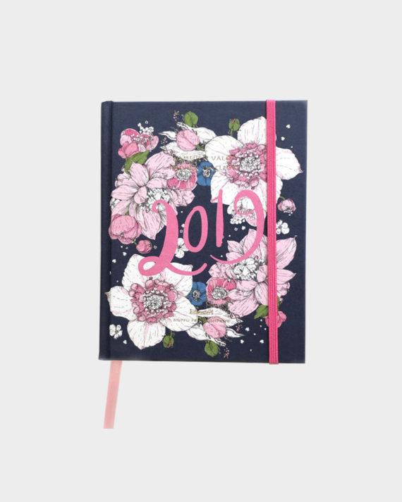 Nuppu Print Company Sydäntalvi Sininen Kalenteri