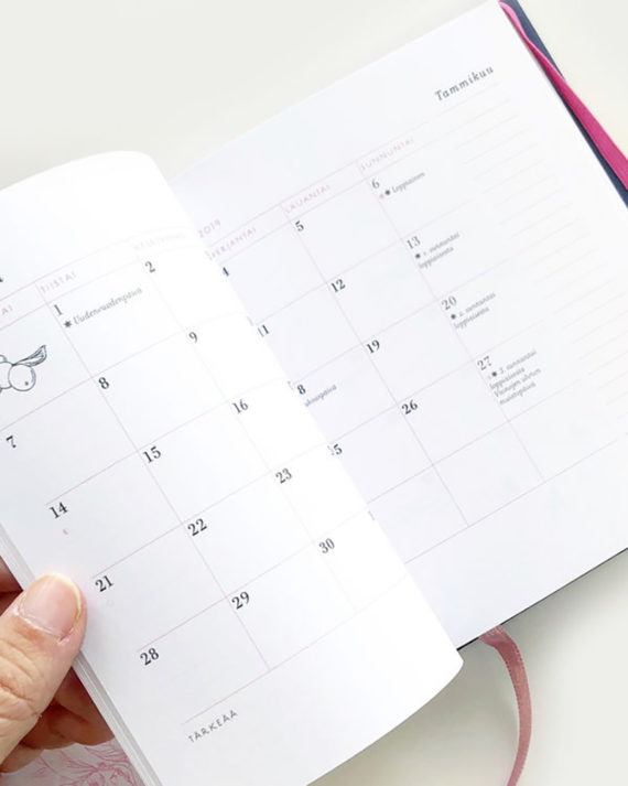 Nuppu Print Company kalenteri calendar 2019