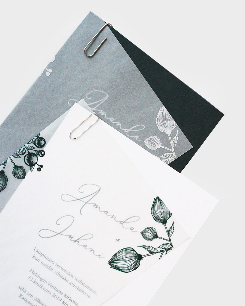 Hääkutsut Wedding Invitations