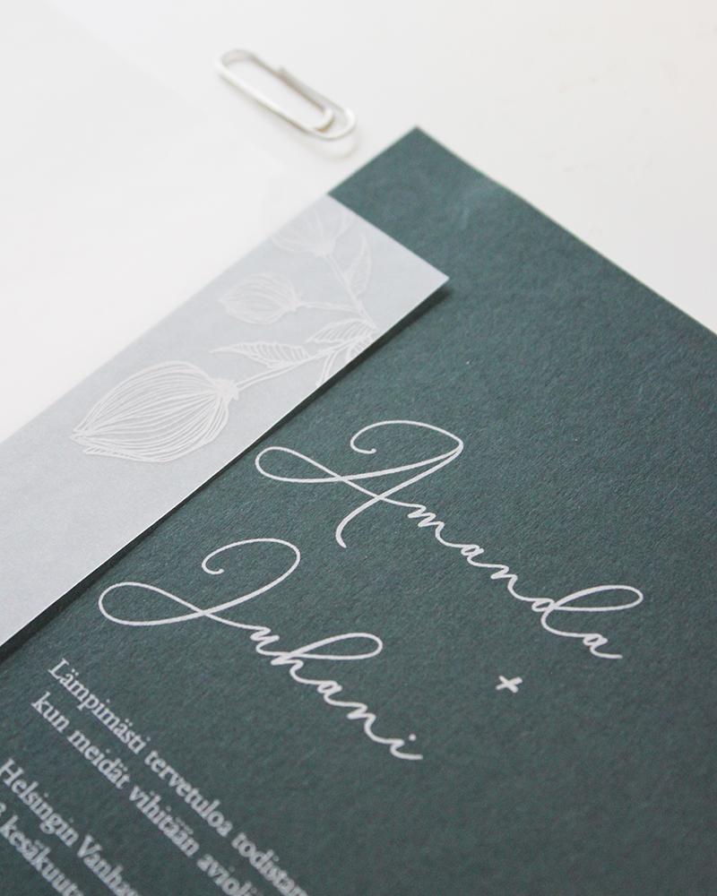 Papershop Painostudio Printing studio Nuppu Kutsu Invitation